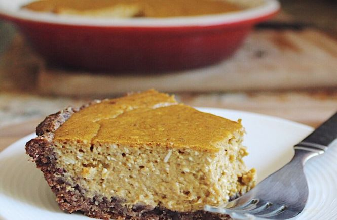 gluten free date sweetened pumpkin cheesecake