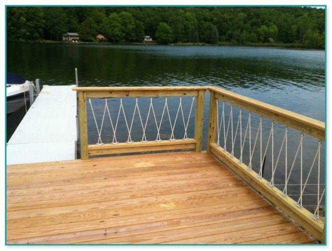 thin rope railing deck