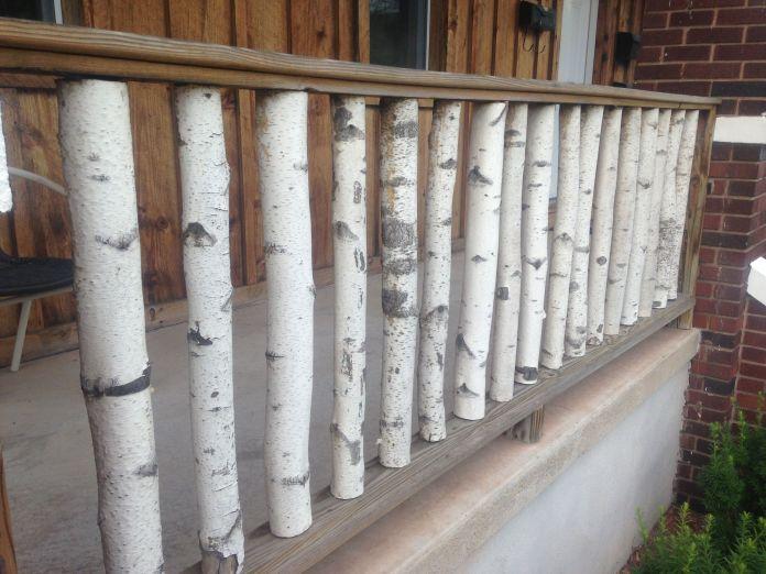 Birch Wood Deck Railing