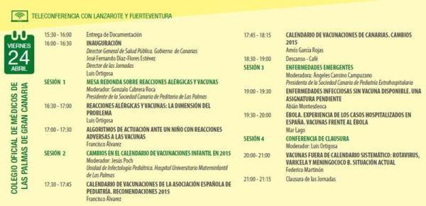 Programa V Jornadas Canarias de Actualización en Vacunas en Pediatría