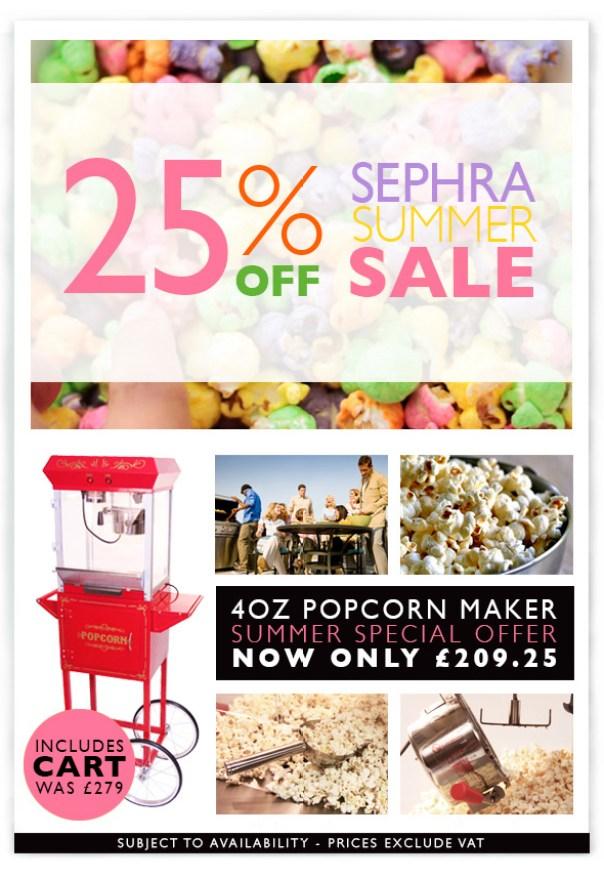 Sephra 4oz Popcorn Summer Sale