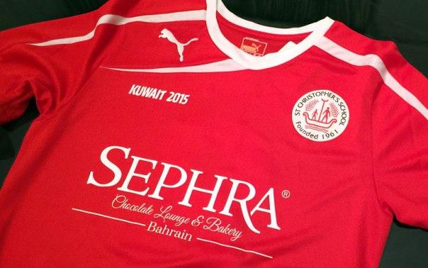 Sephra Bahrain sponsor St. Christopher's School football team