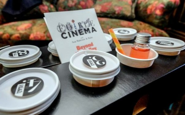 Edible Cinema is a series of movie screenings enhanced with treats for the tastebuds as well as the eyes and ears.