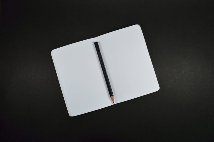 blank page notebook