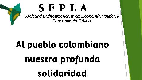 Comunicado da SEPLA em solidariedade ao povo colombiano