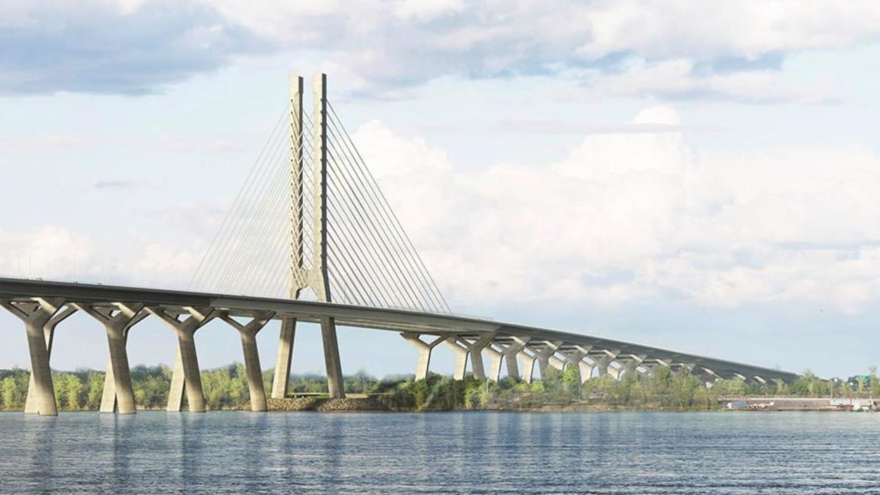 新尚普兰大桥国庆日双向开通