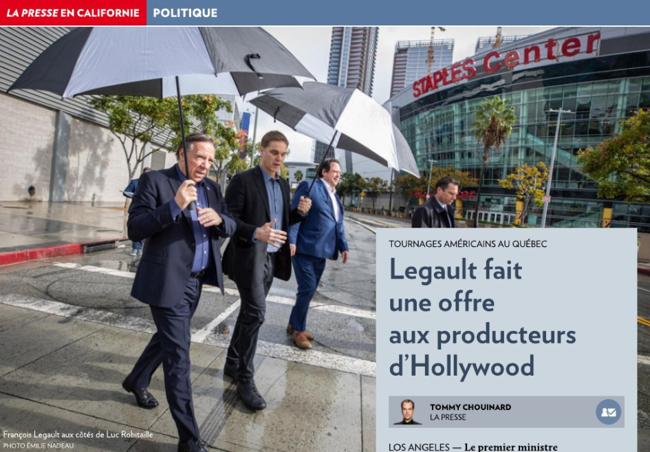 Image result for Francois Legault hollywood
