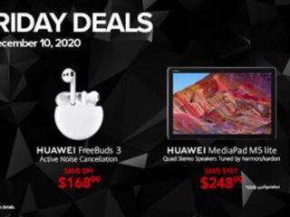 华为智能手表、笔记本电脑、耳机、智能手机和平板电脑黑五促销