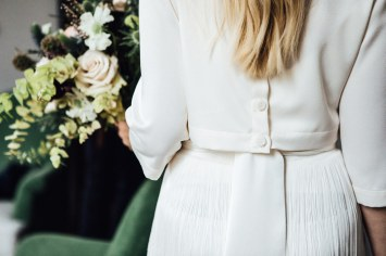 Charlie Brear bridal separates at Artist Residence London hotel   Marylebone Town Hall wedding