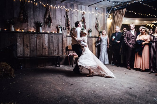 Devon barn wedding photography | The Barn at South Milton festival wedding by the beach