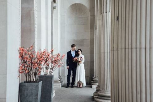 Registry office wedding photography | Town hall elopement | City hall marriage ceremony photographer