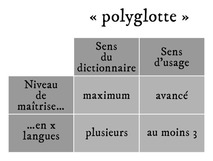 """Les définitions du mot """"polyglotte"""""""