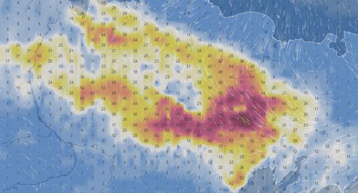 Carte radar des incendies en Sibérie le 26 juin 2020.