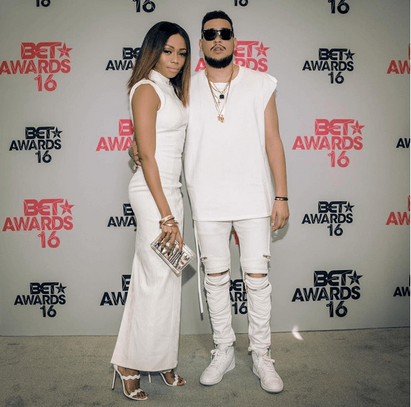 AKA & Bonang Matheba Attend 2016 BET Awards In Matching Outfits