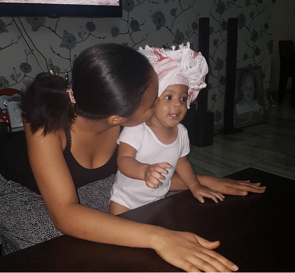 Flavour's Baby Mama, Anna Banner Shares Adorable Photo With Daughter