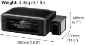 Gambar Ukuran Printer Epson L360
