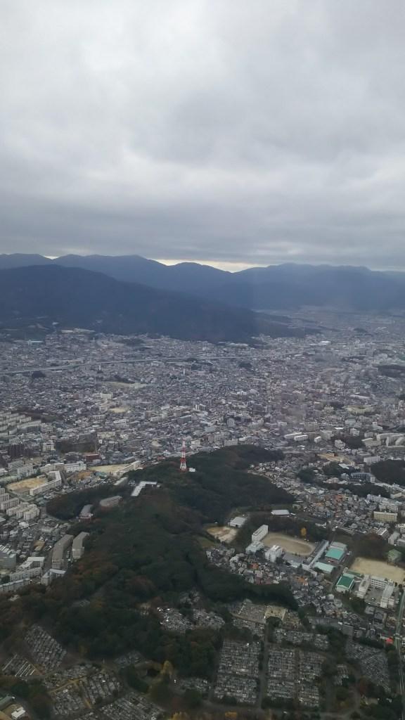 博多市街を上空から眺める