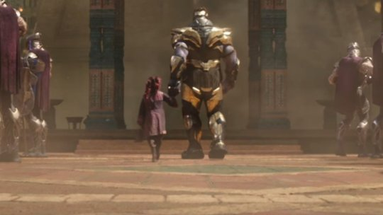Image result for thanos and gamora