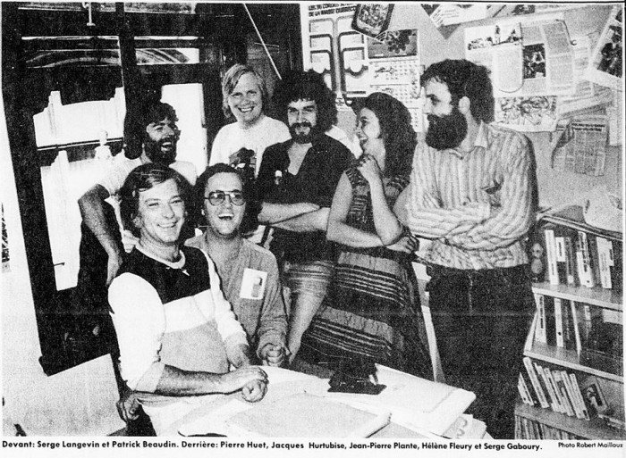 The Croc Staff in 1981 (Hurtubise in back).