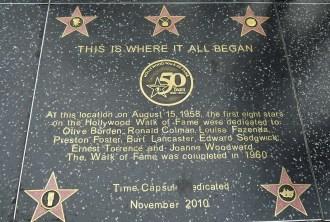 Hollywood Boulevard Walk of Fame