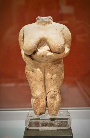 Malta fat lady clay figurine