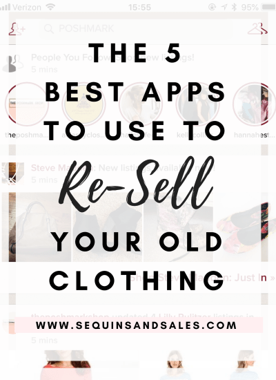 The 5 Best Apps to Use to Re-Sell Your Old Clothing