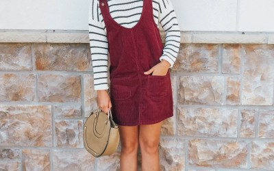 Style How To: Corduroy Overall Dress