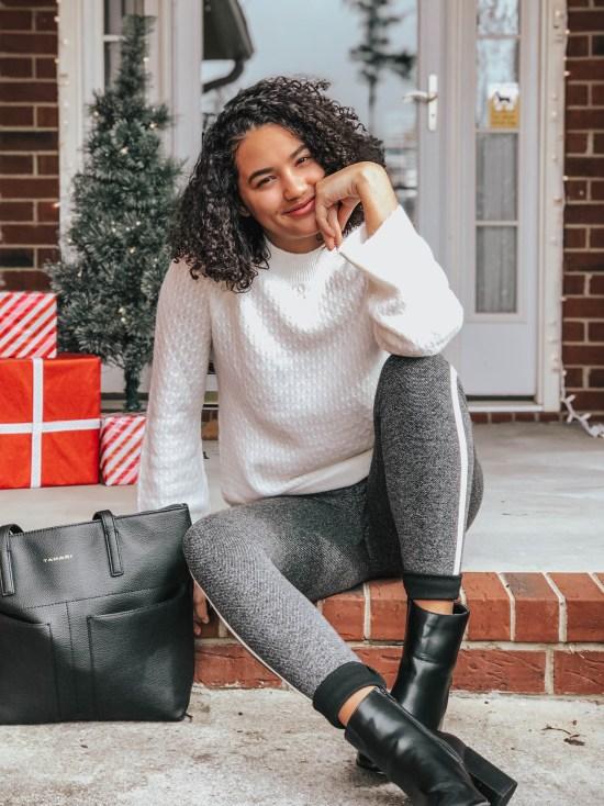 white-sweater-striped-leggings-twenty-winter-outfit-ideas