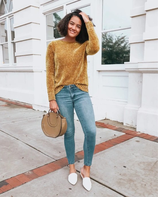 yellow-sweater-white-mules-twenty-winter-outfit-ideas