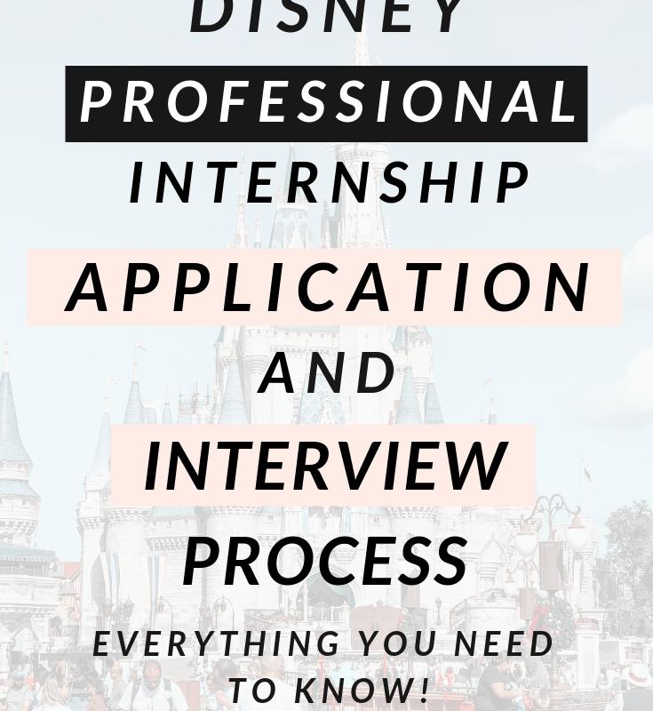 Disney Professional Internship Application & Interview Process