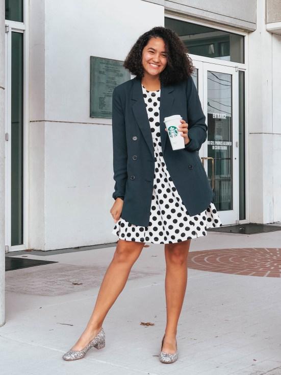 polka-dot-dress-three-feminine-ways-to-style-a-masculine-blazer