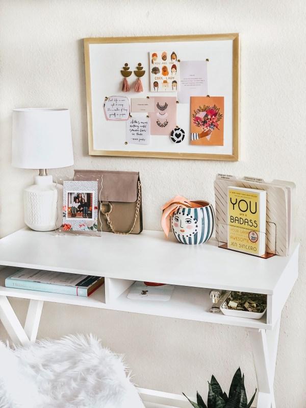 Desk Area Master Bedroom Tour