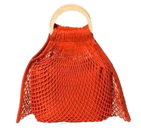Orange Woven Handbag Spring and Summer Handbags Under Fifty Dollars