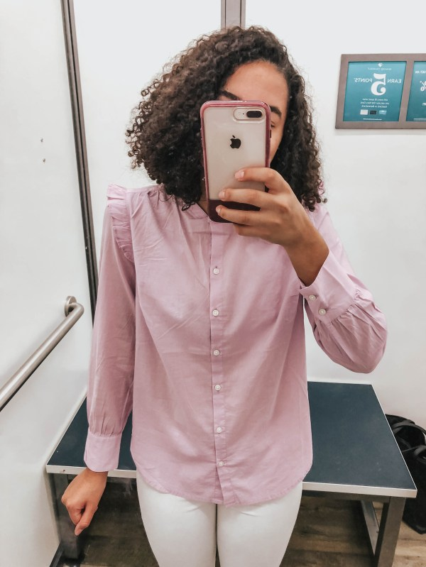 Purple Ruffle Top from Old Navy
