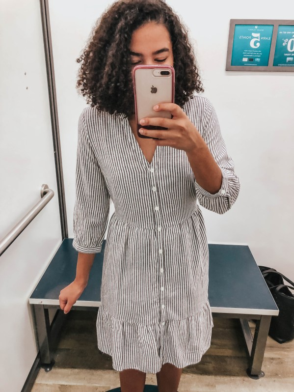 Striped Button front dress from old navy