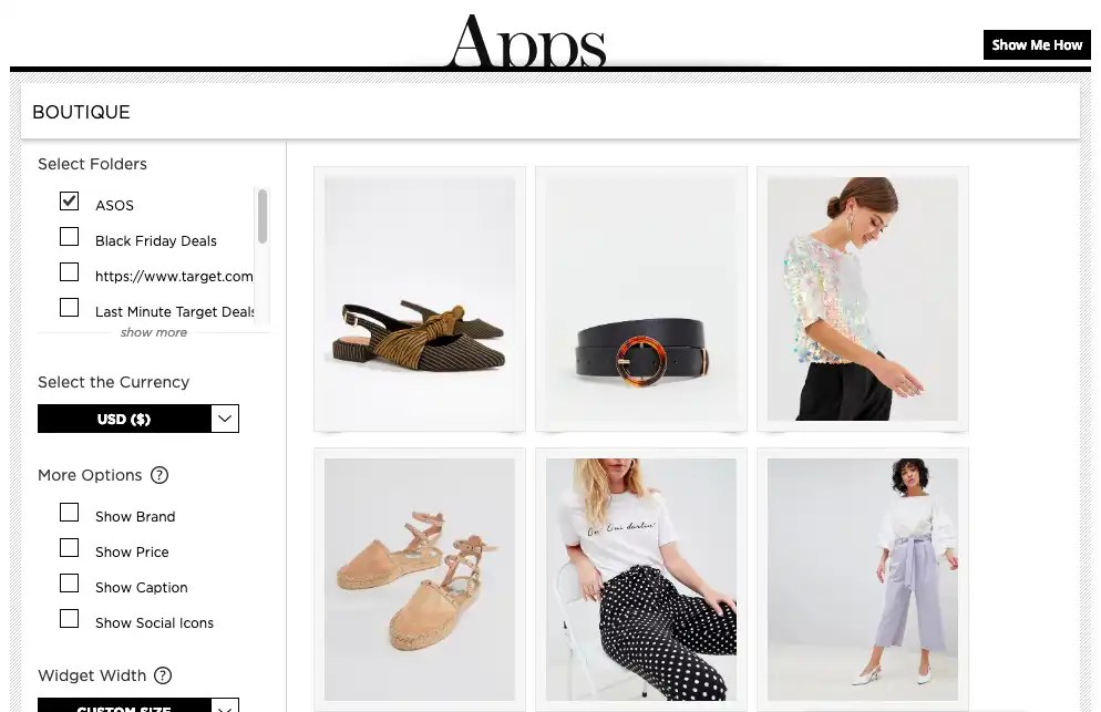 Boutique Widget LIKEtoKNOW.it and RewardStyle Post