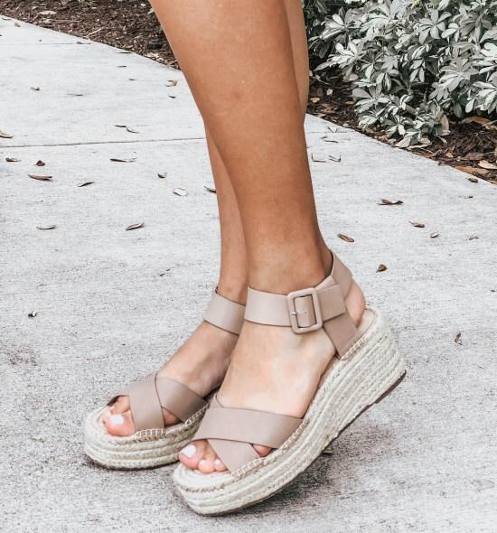 Taupe Platform Espadrille Sandals