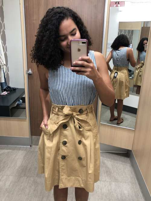 Striped Tank and Trench Skirt Target Try-On Haul