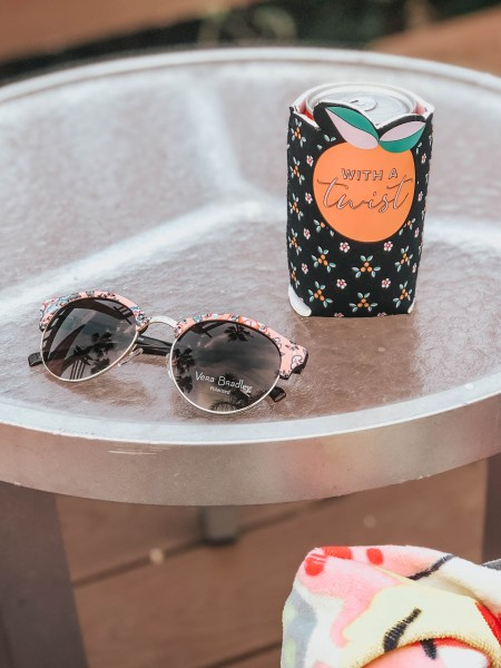 Vera Bradley Sunglasses and Koozie