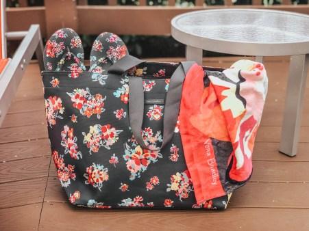 Vera Bradley Towel, Tote Bag, and Flip Flops