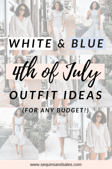 White and Blue Fourth of July Outfits – For Any Budget