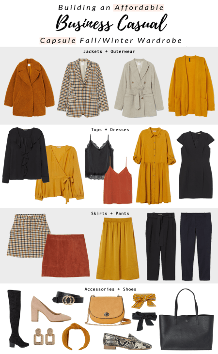 Business Casual Capsule Wardrobe for the Fall and Winter