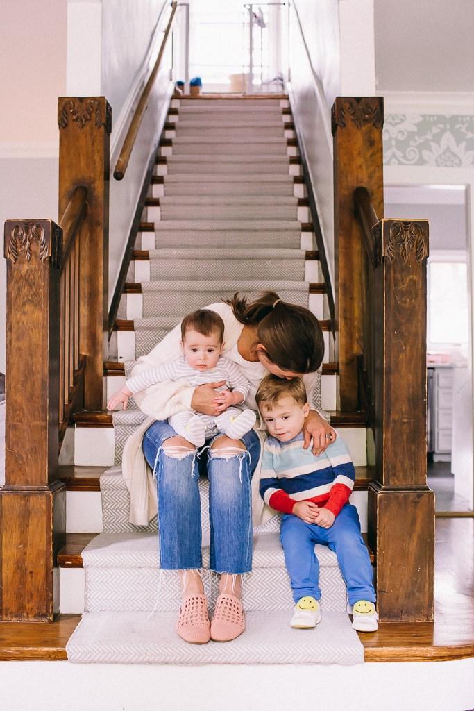 Our Diy Stair Runner Tutorial — Hello Adams Family   Outdoor Stair Carpet Runner   Stair Rods   Anti Slip Stair   Area Rug   Painted Stairs   Wooden Stairs