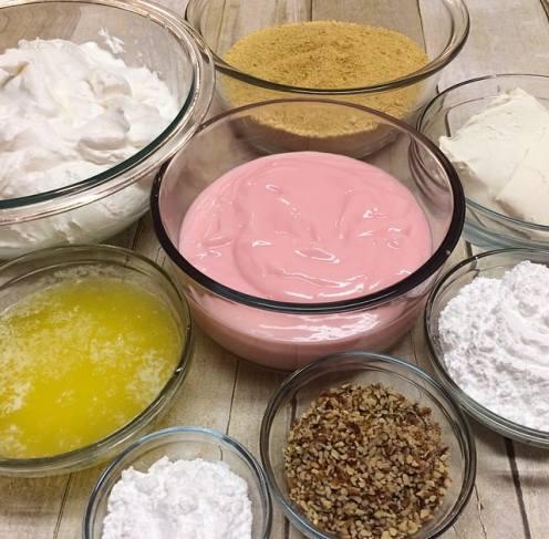 1.30 Four Layer Strawberry Dessert PROCESS 1