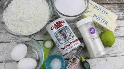 Margarita Lime Cookies Ingredients