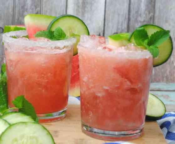 Watermelon Cucumber drink 2
