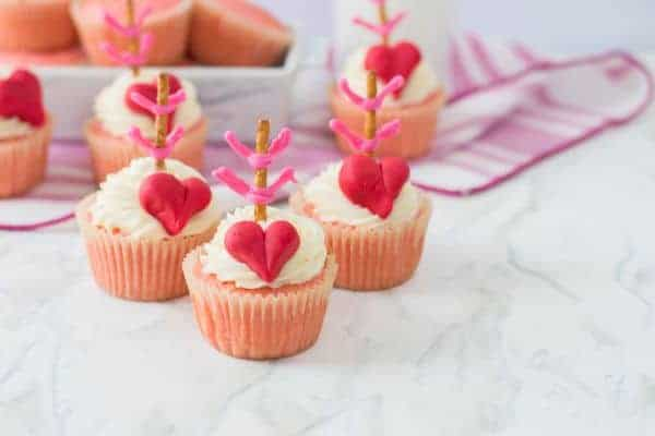 Cupid's Bow Cupcakes