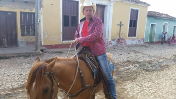 This friendly caballero offered us a horseback tour the next day we could not refuse!