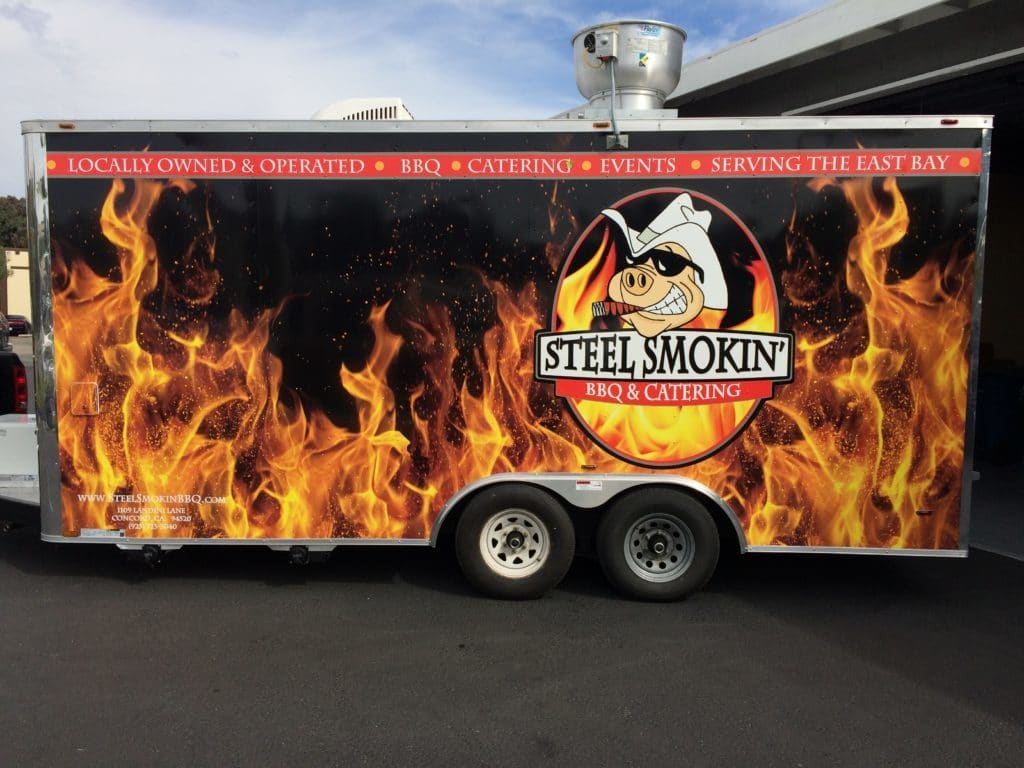 Steel Smokin' BBQ Custom Trailer Wrap