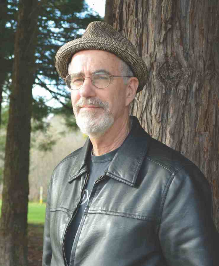 Author, David Holper, in front of the redwoods in Northern California